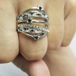 🔥2/$30🔥Malign The World Sparkle Blue Ring